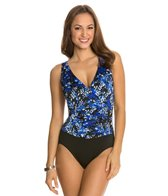 Longitude Mini Garden Shirred Tank One Piece Swimsuit