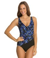 Longitude Mini Garden Wrap Tank One Piece Swimsuit
