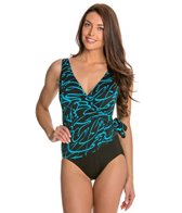 Longitude Noon Tide Side Tie Surplice One Piece Swimsuit