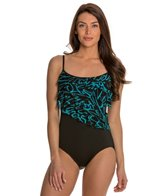 Longitude Noon Tide Tiered Tank One Piece Swimsuit