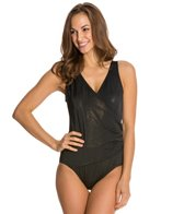Longitude Gold Rush Side Shirred One Piece Swimsuit