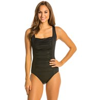 Longitude Gold Rush Squareneck Tank One Piece Swimsuit