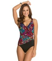Longitude Continental Shirred Wrap One Piece Swimsuit