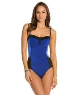 Longitude Colorblock Lingerie Tank One Piece Swimsuit