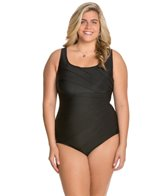 Longitude Plus Size Fan Club Tank One Piece Swimsuit