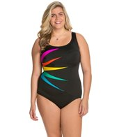 Longitude Plus Size Fan Club Tank One Piece