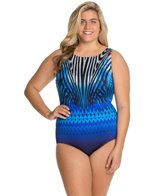 Longitude Plus Size Allure Highneck One Piece