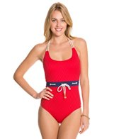 Sperry Top-Sider Womens Ahoy Matey Halter One Piece Swimsuit