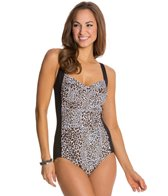 Gabar Wild Safari Twist Front One Piece Swimsuit