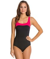 Gabar Coast Line Square Neck One Piece Swimsuit