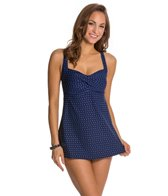 Gabar Sand Dune Dot Twist Front Swimdress