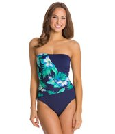 Gabar Canyon Flower Bandeau One Piece Swimsuit