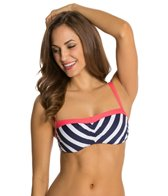 Beach House Swimwear Ship Shape Stripe Underwire Bra Bikini Top