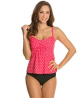 Beach House Montauk Dot Twist Bra Tankini Top