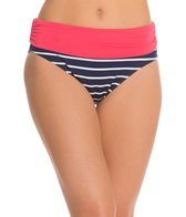 Beach House Skipper Stripe Fold Over Bikini Bottom