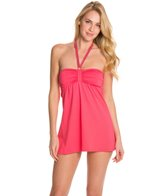 Beach House Solid Halter Swimdress
