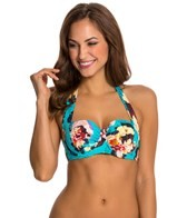Seafolly Kabuki Bloom Halter Bustier Bikini Top