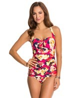 Seafolly Kabuki Bloom Halter One Piece Swimsuit