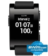 Pebble Smartwatch with Automatic Lap Counter