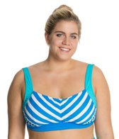 Beach House Plus Ship Shape Stripe Underwire Bra Top