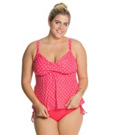 Beach House Plus Montauk Dot Tankini Top