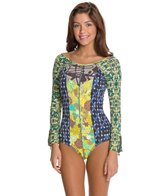 Maaji Blue Ribbon LS One Piece Swimsuit