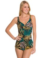 Penbrooke Raindance Cross Over Sarong One Piece Swimsuit