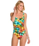 Penbrooke Hot Tropics Surplice Mio One Piece Swimsuit
