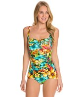 Penbrooke Hot Tropics Glam Girl Leg One Piece Swimsuit