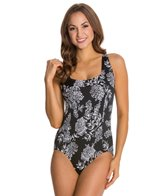 Penbrooke Queens Lace Square Neck Mio One Piece Swimsuit