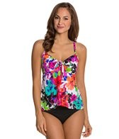Penbrooke Swimwear Spring Blooms Bow Front Bikini Top