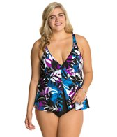 Penbrooke Plus Size Matisse Fly Away Fauxkini One Piece Swimsuit