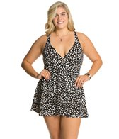 Penbrooke Plus Size Dots At Play Fly Away Swimdress