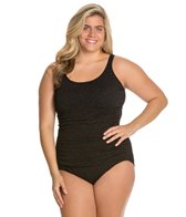 Penbrooke Plus Size Krinkle Empire Mio One Piece Swimsuit