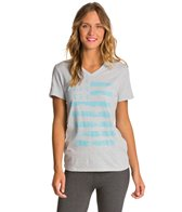 Under Armour Women's Flag Short Sleeve V-Neck