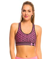 Under Armour Women's Heatgear Alpha Printed Running Bra