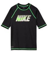 Nike Boys' Hydro UV Mega Logo S/S Rashguard