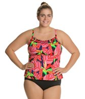 South Point Retro Tropics Plus Size Pina Colada Tankini Top