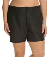 South Point Solid Plus Size Shaka Short