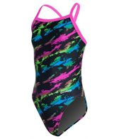 Waterpro Girls' Lava Thin Strap One Piece Swimsuit
