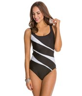 Miraclesuit Color Mix Helix Underwire One Piece Swimsuit (DD Cup)