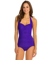 Miraclesuit Novel Ideas Spellbound Retro Halter Underwire One Piece Swimsuit