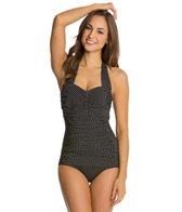Miraclesuit Pin Point Spellbound Halter One Piece Swimsuit