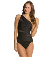 Miraclesuit Net Work Jena Slated One Shoulder One Piece