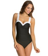 Miraclesuit Block Party Saxon Underwire One Piece Swimsuit