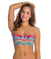 Nanette Lepore Flora Fiesta Longline Coquette Bikini Top