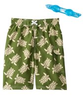 Jump N Splash Boys' Turtle Swim Trunk w/FREE Goggles (5-7)