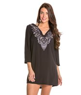 Laundry By Shelli Segal Royals Embroidered Tunic