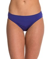 Laundry By Shelli Segal Solid Ruched Hipster Bikini Bottom