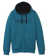 Hurley Men's One & Only Herringbone Zip Fleece Hoodie